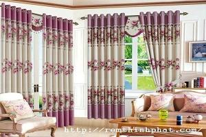 Hướng dẫn cách lựa chọn rèm vải cho phòng khách