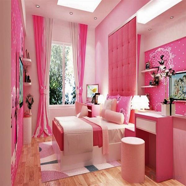 Rèm phòng cưới màu hồng KL 91