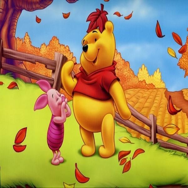 Mành cuốn tranh Gấu Pooh