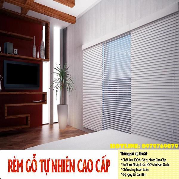 Rèm sáo gỗ Hàn Quốc HQ01