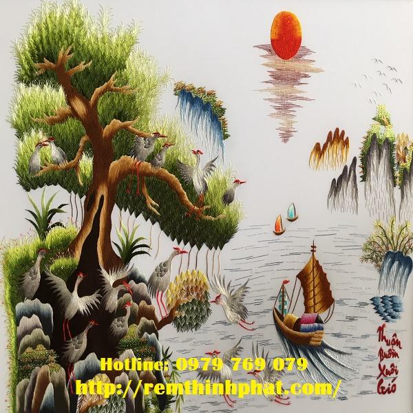 Mành cuốn tranh sơn dầu AT15