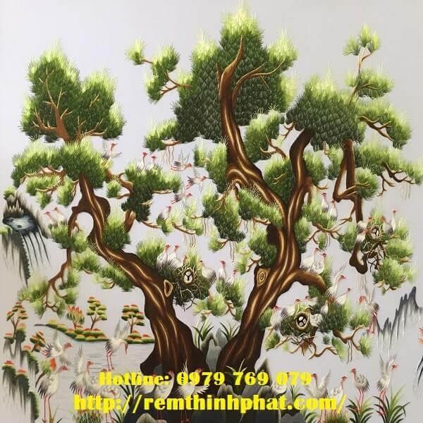 Rèm cuốn tranh cây tùng At17