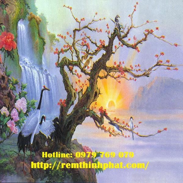 Rèm cuốn tranh sơn dầu AT14
