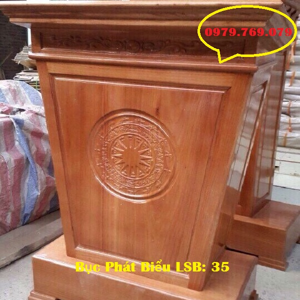 Bục phát biểu gỗ sồi Nga LSB35