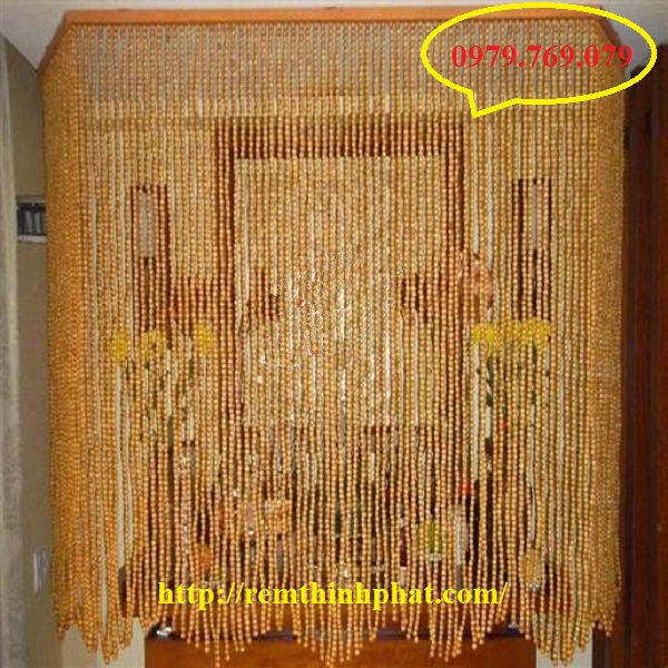 Mành hạt gỗ Pơ Mu C25