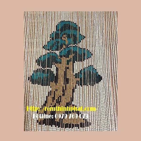 Mành hạt gỗ cây tùng C25