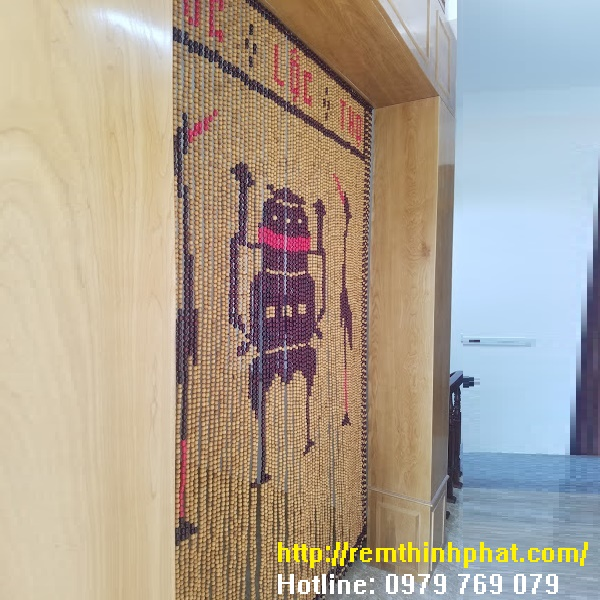 Rèm phòng thờ gỗ Pơ Mu C33