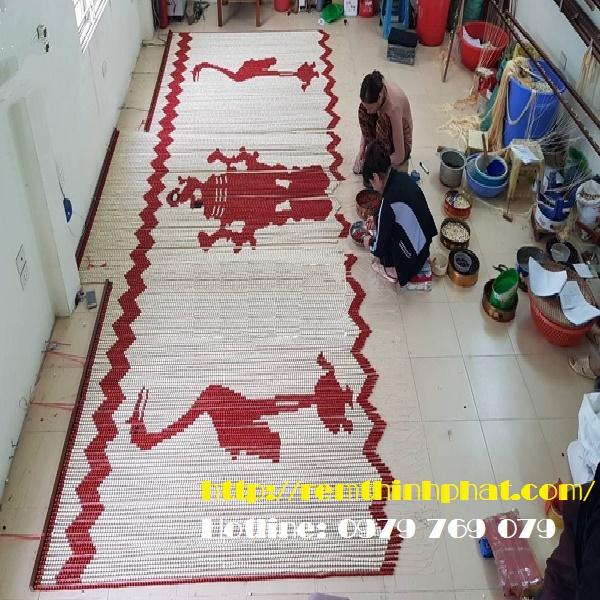 Rèm phòng thờ ly hương con hạc C38