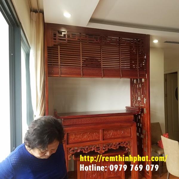 Vách ngăn phòng thờ gỗ Lim CN13