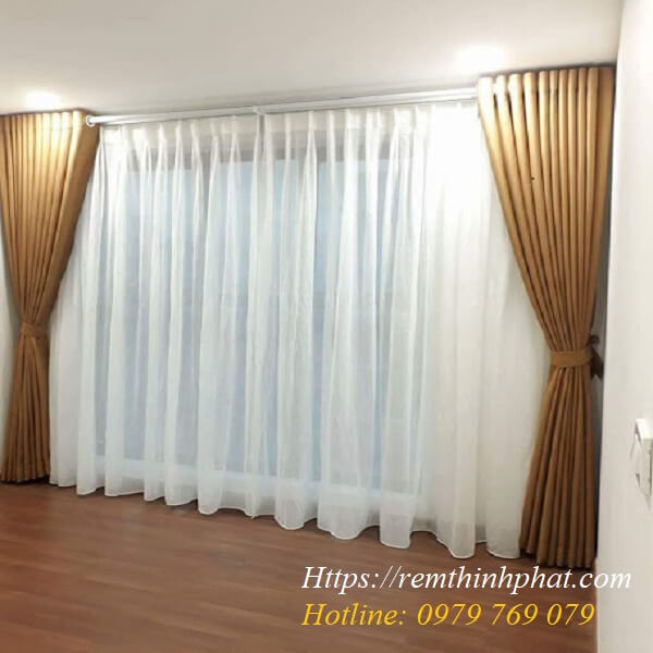 Rèm vải phòng khách mã VK002