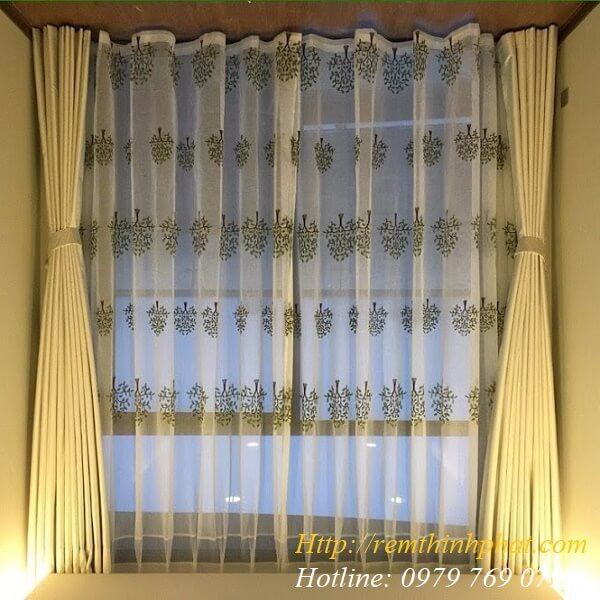 Rèm vải phòng khách mã HK78