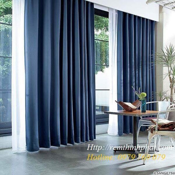 Rèm vải phòng khách 1 màu mã KQ108