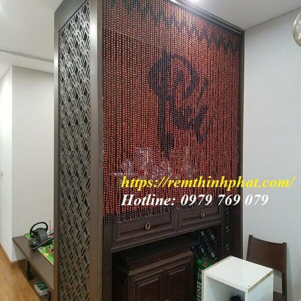 Rèm phòng thờ gỗ Hương C40