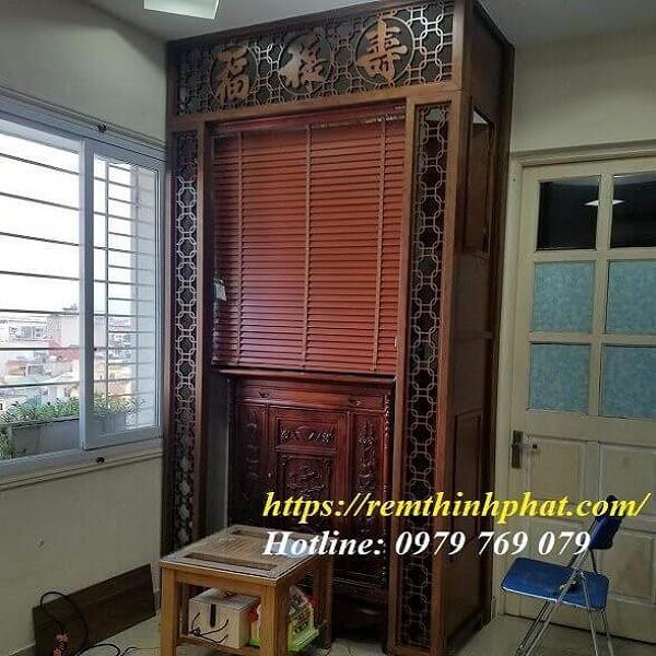 Rèm phòng thờ gỗ Bách Hương MSJ203